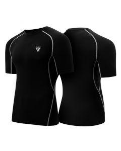 RDX X5 Small Black polyester Half Sleeves Rash Guard
