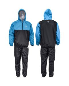 RDX X6 Small Blue Nylon Hooded Sauna Sweat Suit