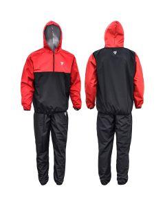 RDX X6 Small Red Nylon Hooded Sauna Sweat Suit