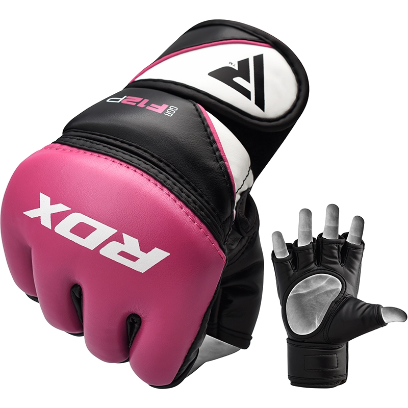 RDX_F12_Large_Pink_Leather_X_Ladies_MMA_Gloves