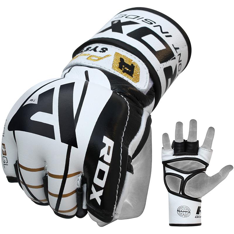 RDX_F3_Medium_Golden_Leather_MMA_Gloves
