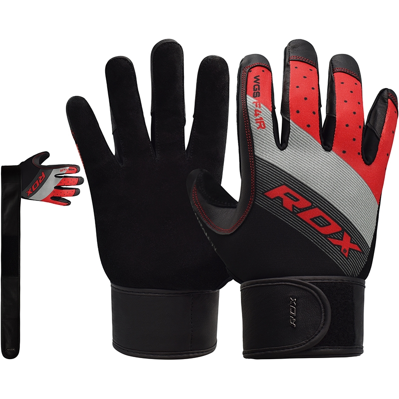 RDX F41 Small Red Lycra Fitness Gym Gloves