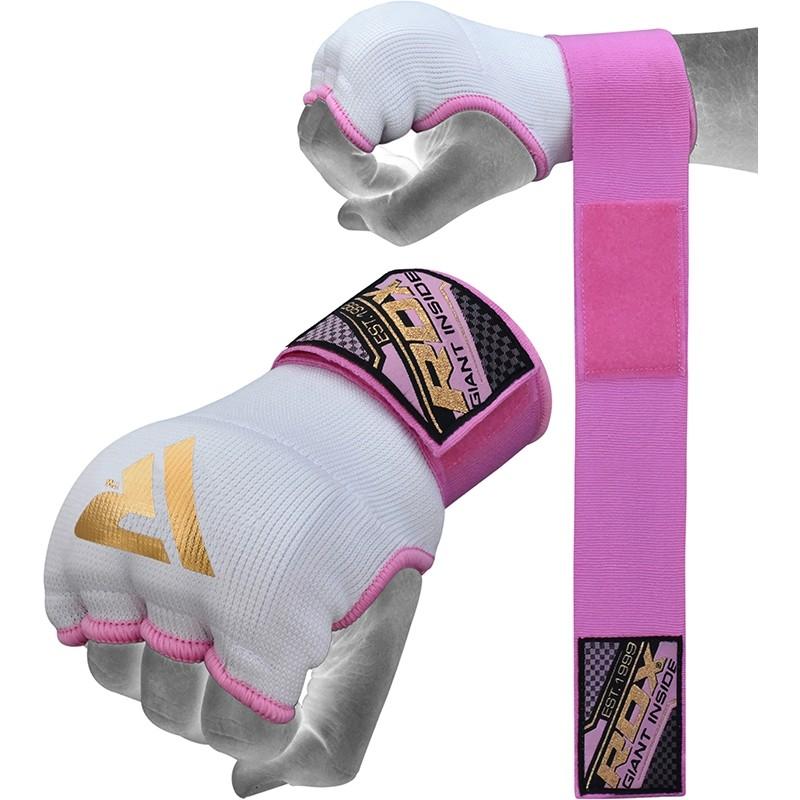 RDX_IS_Medium_Pink_Hosiery_Women_Inner_Gloves_with_Wrist_Strap