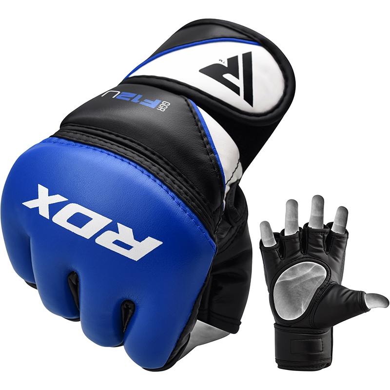 RDX_F12_Extra_Large_Blue_Leather_X_Training_MMA_Gloves