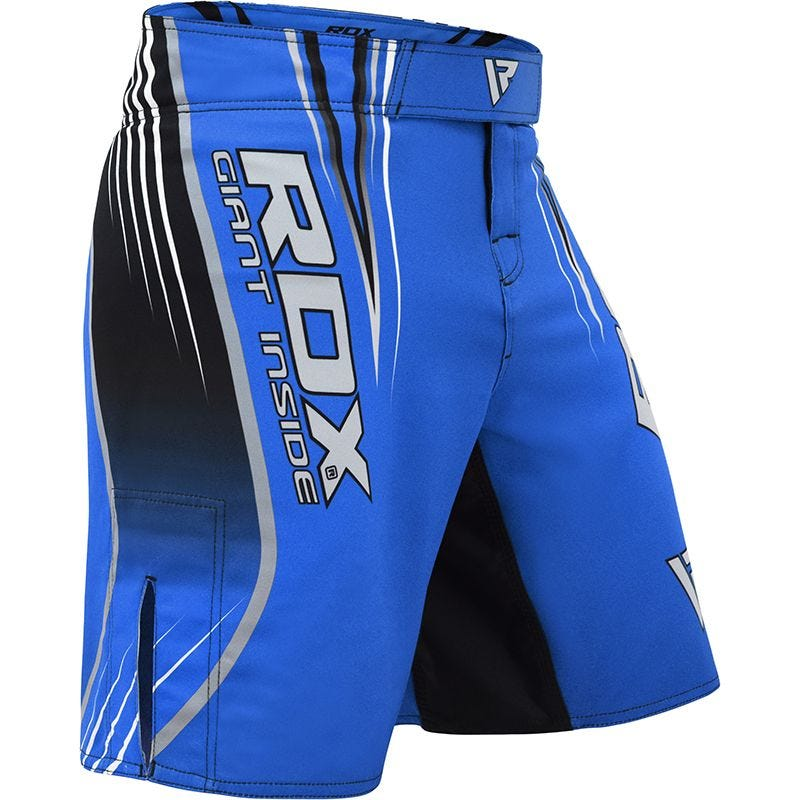 RDX R12 MMA Calções Moyenne Azul Poliéster