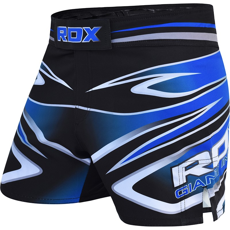RDX_R9_Large_Blue_Polyester_MMA_Training_Shorts