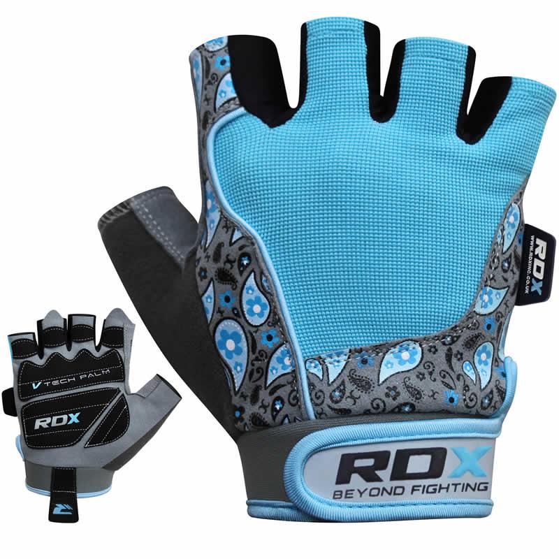 RDX S6 Medium Blue Amara  Fitness Gym Gloves