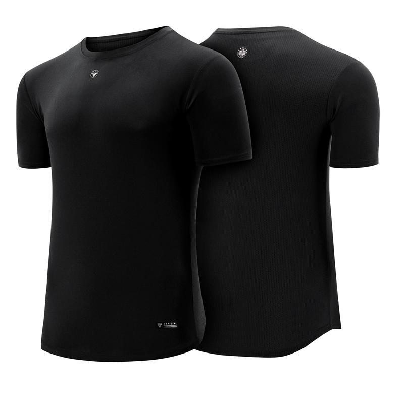RDX T1 T Shirt Noir À Manches Courtes