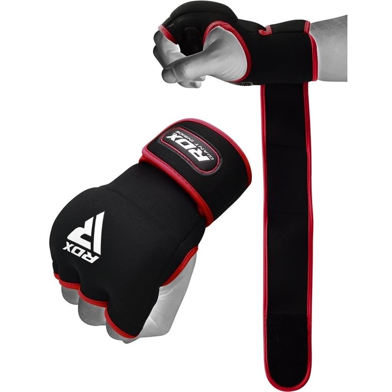 RDX X8 Inner Hand Gloves With Strap Neoprene Small Red/Black/White