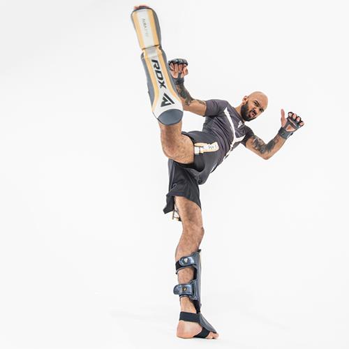 RDX T17 Aura Shin Guards Instep Muay Thai Sparring Kickboxing Training Shinguard