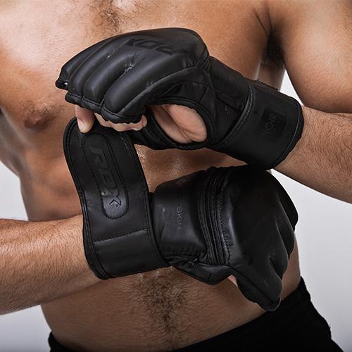 Black MMA Gloves RDX