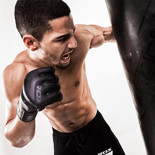 Noir Black MMA Grappling Gloves RDX