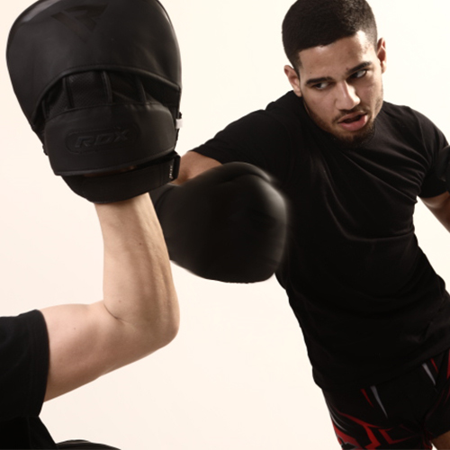 RDX Noir Boxing Gloves & Focus Pads