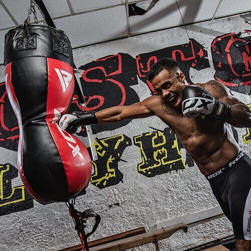 RDX Black White S4 Boxing Gloves