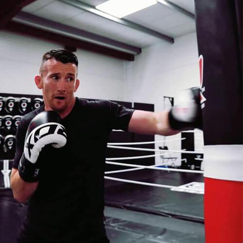 S4 RDX Black White Boxing Gloves